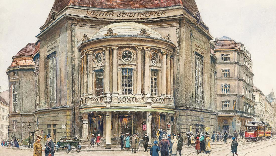 historische zeichnung vom alten Theater