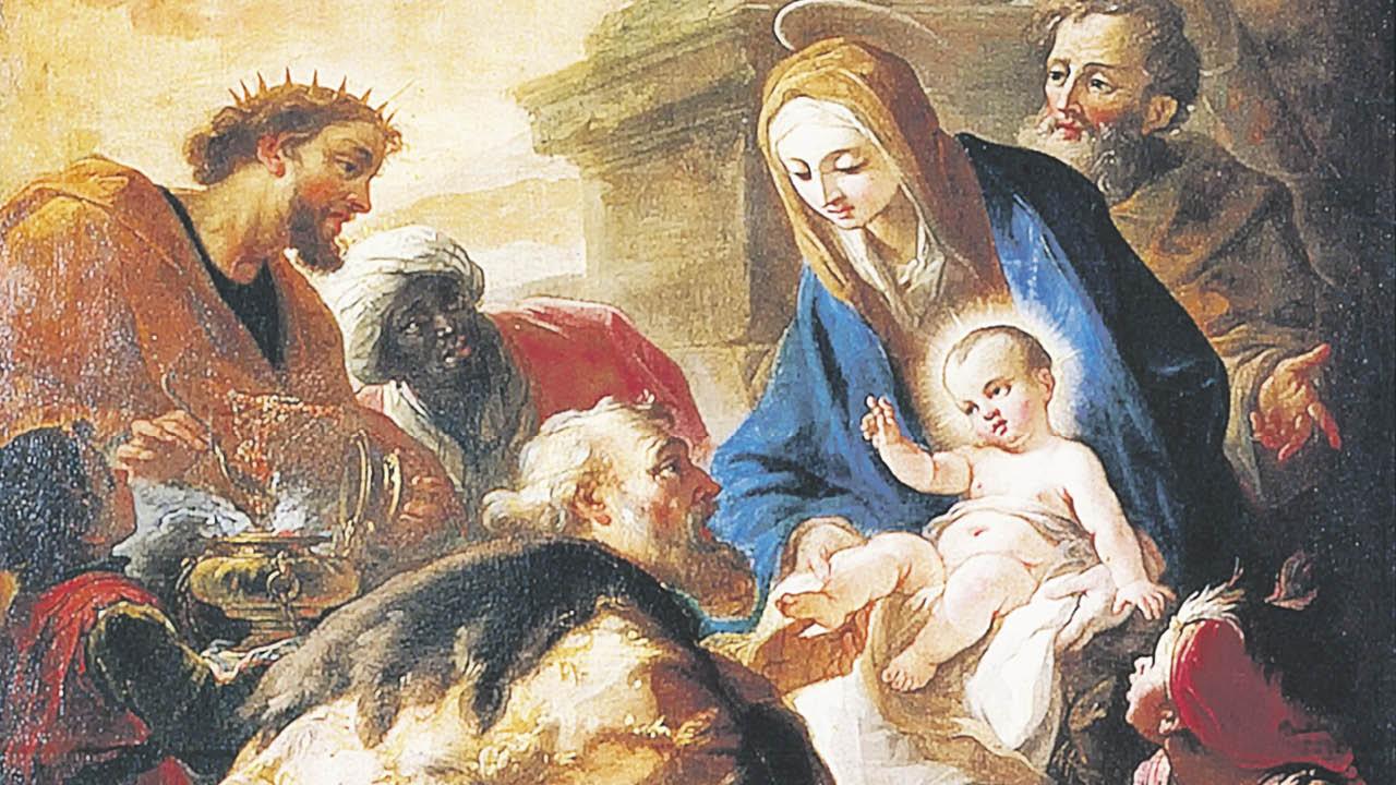 Anbetung der drei Könige - Madonna mit Jesuskind