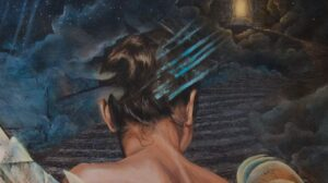 Malerei Rücken einer Frau