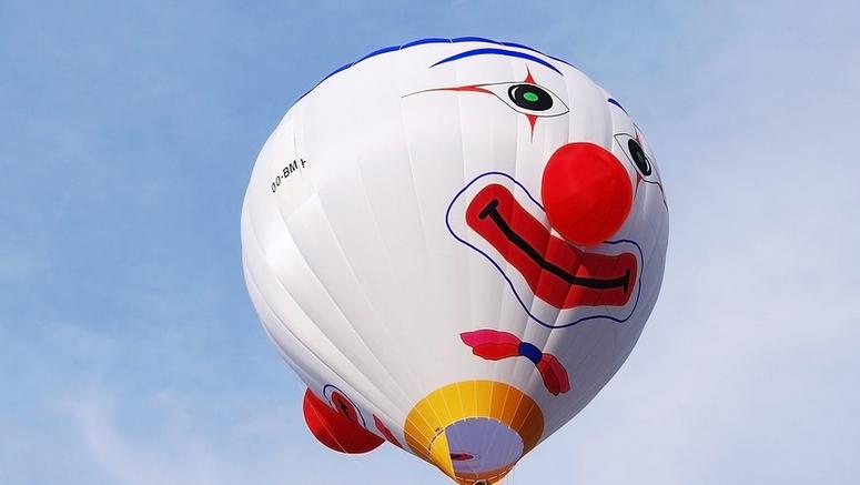Ballon mit Clownnase