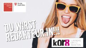 junge Frau mit Sonnenbrille streckt Zunge heraus